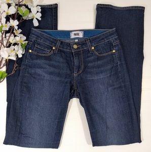 PAIGE darknwash skyline boot jeans